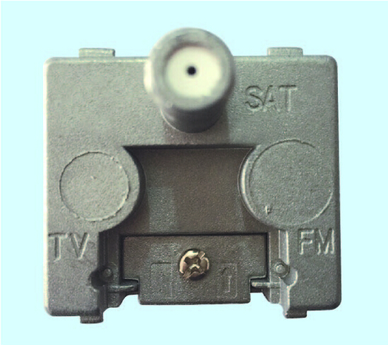 Single Hole 950-2400MHZ SAT TV Wall Socket Outlet(SHJ-TWS014)