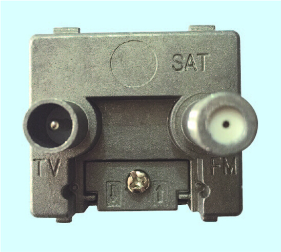 2 Hole 5-2400MHZ TV+SAT Wall Socket Outlet(SHJ-TWS016)