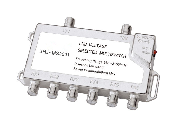 950-2150MHZ 2 in 6 Satellite TV Multi-switch(SHJ-MS2601)