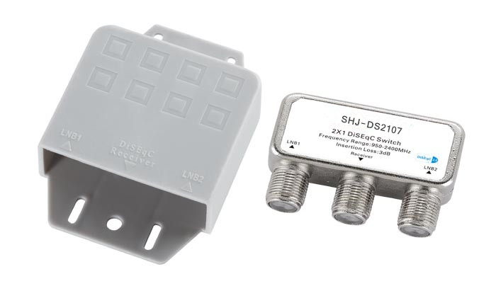950-2400MHZ 2X1 DiSEqC switch (SHJ-DS2107)