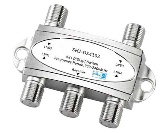 950-2400MHZ F Type Female 4X1 DiSEqC switch(SHJ-DS4103)