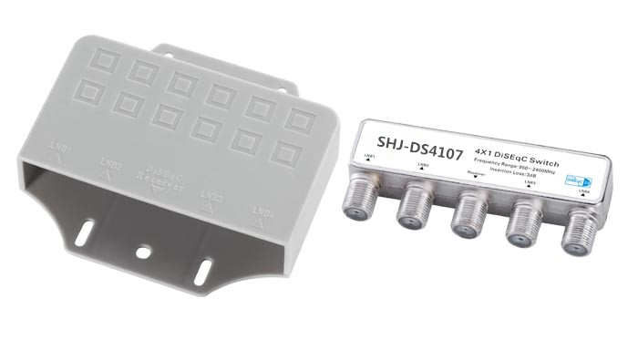 F Type Female 4X1 DiSEqC switch(SHJ-DS4107)