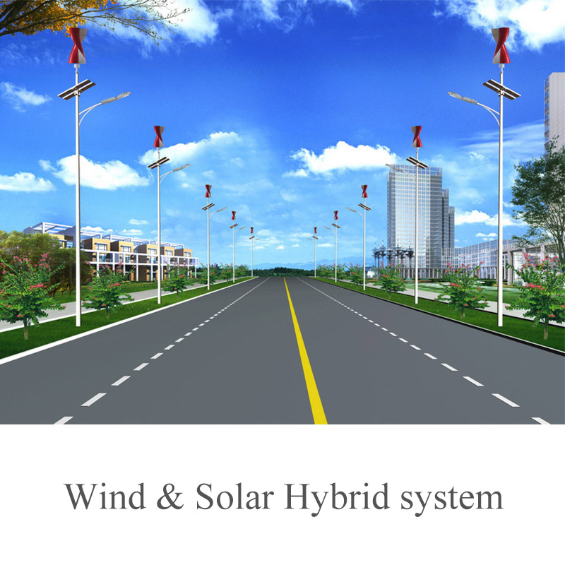 200W Vertical Axis Wind Turbine+200W Solar LED Street Light(SHJ-LD200-S)