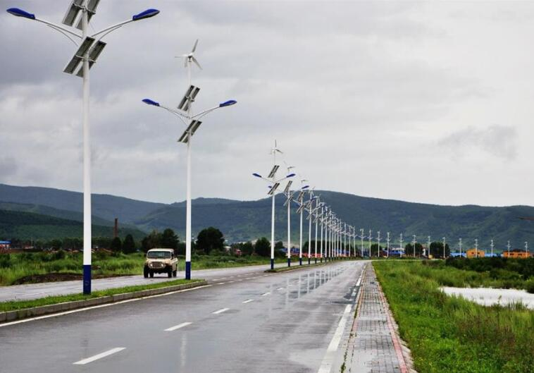 98W Horizontal Wind Turbine and Solar Hybrid Street Lamp(SHJ-LD100-WH)